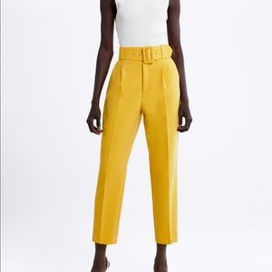 Zara Pleated pants with belt